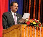 Minister for Forest and Soil Conservation Agni Prasad Sapkota