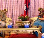 Prime Minister KP Sharma Oli briefing President Bidya Devi Bhand